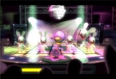 Review Rayman Raving Rabbids: Veel minigames zijn erg leuk, zoals bijvoorbeeld deze dance-minigame.