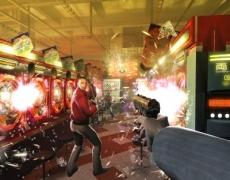 Review Red Steel: Een van de eerste uitgebrachte screenshots van Red Steel. Dit onderdeel (schieten) werkt prima in het spel.
