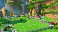 Review SEGA Superstars Tennis: De banen in SEGA Superstars Tennis zijn heel mooi versierd.