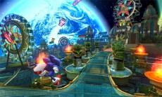 Review Sonic Colours: Het pretpark waarin je zal rondrennen. Het ziet er allemaal heel kleurrijk en prachtig uit.