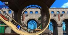 Review Sonic Unleashed: Elk level zit vol actie,er zijn bijvoorbeeld loopings en grote afdalingen!