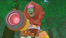 Review Super Monkey Ball: Banana Blitz: Elke wereld wordt afgesloten met een baas. Zoals deze meneer uit wereld 2!