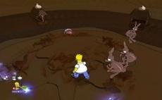 Review The Simpsons Game: Het spel begint met een droomwereld van chocola waarin de controls worden uitgelegd.