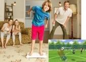 Voetbal bij Wii Fit Plus! Kop zoveel mogelijk ballen.