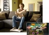 Ook kun je bij Wii Music luchtdrummen.