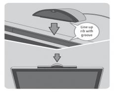 Review Wii Speak: Zo plaats je de Wii Speak op de sensorbalk.