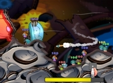 Review Worms: A Space Oddity: ...of met grote raketten