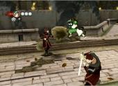 Met B kun je ook stenen naar vijanden gooien om ze uit te schakelen.