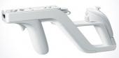 De Wii-mote en Nunchuck worden in de Zapper bevestigd.