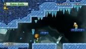 De ijswereld, met daarin Luigi in een nieuwe powerup, het pinguinpak.