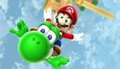 In zijn normale groene vorm kan Yoshi, zoals altijd, vijandjes opeten.