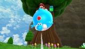 De blauwe Blimp Melon maakt Yoshi opgeblazen, hij zal nu een tijdje de lucht in zweven.