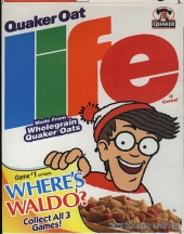 Wally op de ontbijtgranen-doos