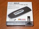 De mooie Wi-Fi-transmitter, in zijn verpakking.