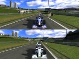 Omdat er ook een splitscreen modus aanwezig is kan je kijken wie de beste racer is!