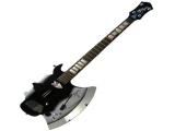 De gitaar is in vele vormen verkrijgbaar zoals 'The Axe' van Gene Simmons!