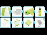 De inhoud van de <a href = http://www.mariowii.nl/wii_spel_info.php?Nintendo=Wii_Balance_Board>Balance Board</a> Accessoires Bundel. Ideaal voor een potje zweten!