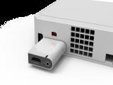 Het Wii to HDMI-blokje aangesloten op de Wii. Mooi toch?