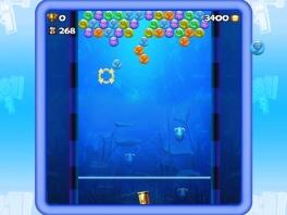 Bijna alle minigames zijn nageaapt van andere oudere spellen, zoals Bubble Shooter hier.