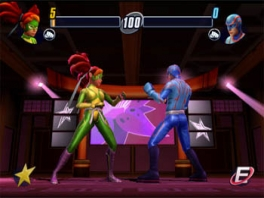 Het spel bevat veel verschillende en diverse karakters, zoals deze superhelden!