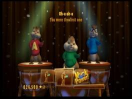 Alvin, Theodore en Simon zullen even voordoen hoe het moet.