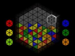Zorg dat je rode, gele, groene, blauwe of oranje zeshoekjes maakt!