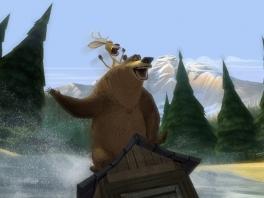 Ook bosdieren doen aan extreme sporten, zoals duo-surfen op een toilethokje...