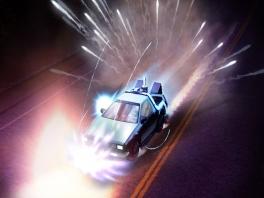 Natuurlijk is de DeLorean DMC-12 tijdmachine-auto ook van de partij.