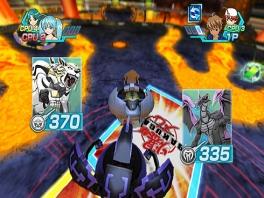 De Bakugan met het hoogste krachtlevel wint het duel!