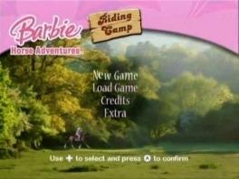 Het startscherm laat al zien: enkel voor Barbie- en paardenfans!