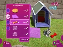 Je moet de puppy's ook verzorgen door bijvoorbeeld een koekje te geven!