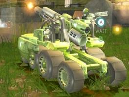 Er zijn vele voertuigen, waaronder tanks en vliegtuigen
