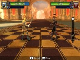 Als je in de slasher modus een schaakstuk slaat komt er een korte gevechtsanimatie.
