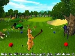 Voor de echte ontspanning hebben de dieren een heuse golfbaan!