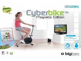 Bij deze Cyberbike voor de Wii hoort een virtuele fiets game.