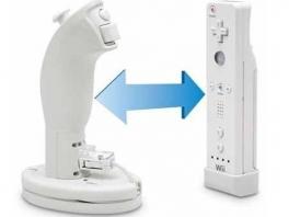 De <a href = https://www.mariowii.nl/wii_spel_info.php?Nintendo=Wii_Nunchuk>Nunchuck</a> moet in de houder en het losse adaptertje moet in het uiteinde van de <a href = https://www.mariowii.nl/wii_spel_info.php?Nintendo=Wii-afstandsbediening>Wii controller</a>.
