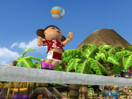 Er zitten veel verschillende sporten in het spel, waaronder Beach-Volleyball