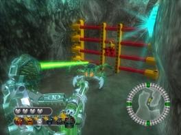 De 'hoofd'techniek van elke <a href = https://www.mariocube.nl/GameCube_Spelinfo.php?Nintendo=Bionicle>Bionicle</a> is een handige lock-on laser