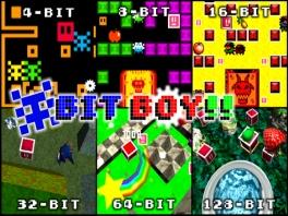 Je kunt Bit boy in 6 soorten spelen: Als 4, 8, 16, 32, 64 of 123 Bit!