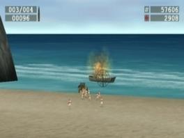 Schiet op iedereen die het strand op probeert te komen!