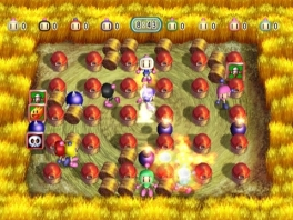 In Bomberman Blast! is ook de multi player prominent aanwezig.