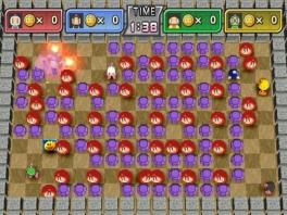 De klassieke <a href = https://www.mario64.nl/gamebman.htm>Bomberman</a> gameplay is gelukkig aanwezig.