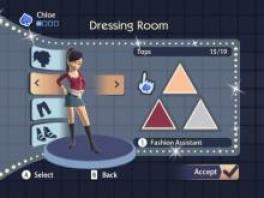 Je kan zelf een personage maken door verschillende kapsels, kleding etc. te kiezen.