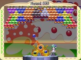 Schiet alle ballen weg door de juiste kleuren tegen elkaar aan te schieten.