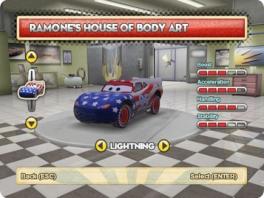 Pimp de <a href = https://www.mariowii.nl/wii_spel_info.php?Nintendo=Cars>Cars</a> bij Ramone's tattooshop!