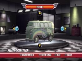 Je kunt kiezen uit een aantal auto's, ieder met eigen prestaties.
