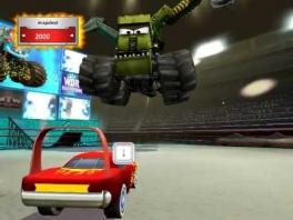 Vecht tegen gevaarlijke <a href = https://www.mariowii.nl/wii_spel_info.php?Nintendo=Monster_Trucks>monster trucks</a>!