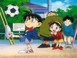 Conan is overigens ook geen onverdienstelijk voetballer.