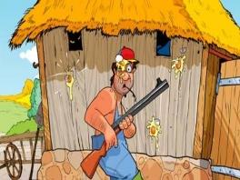 Schiet als boer alle kippen dood die je boerderij proberen over te nemen!