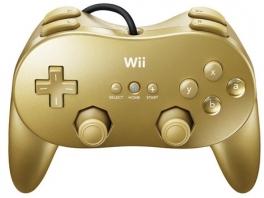 Deze gouden Pro controller wordt geleverd bij <a href = https://www.mariowii.nl/wii_spel_info.php?Nintendo=GoldenEye_007>GoldenEye Wii</a>.